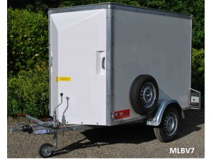 Box Van 'Single Axle' Trailers