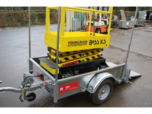 SU350 / SU550 Access Platform Trailer Youngman Boss X3 Scissor Lift