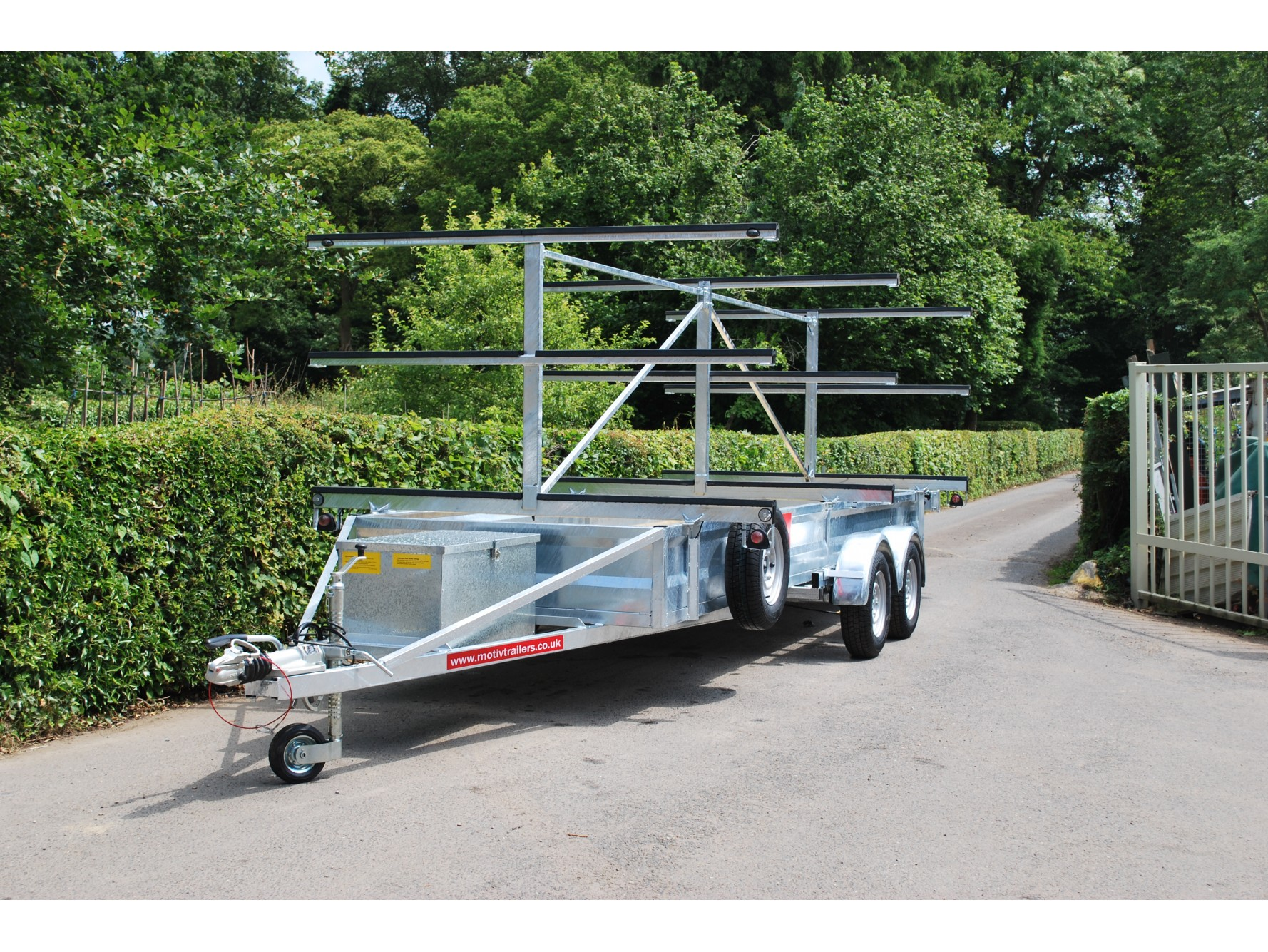Motiv Trailers | TC 2000 3x12 Centre Post Rowing Boat Trailer