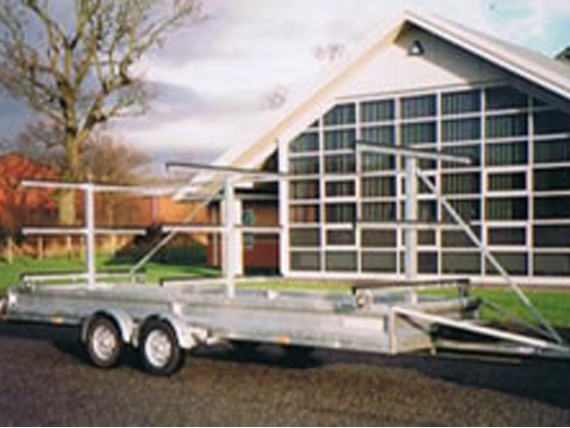 TC 1700 HDG 3x6 Rowing Boat Trailer