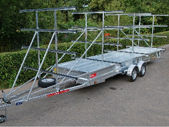 TC 2500 HDG 4x12 Rowing Boat Trailer